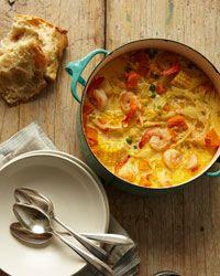 Peruvian Shrimp-and-Corn Chowder Recipe from Food & Wine