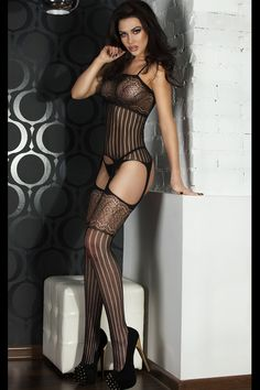 Foxy Suspender Style Lace Body Stockings $10.94