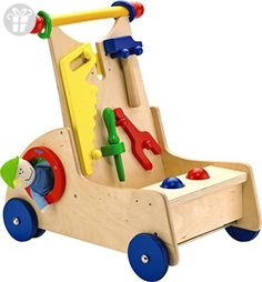 The Walk-Along Tool Cart from Haba Toys is wonderful for your budding little carpenter as it comes with all sorts of tiny toy tools for your child. It even comes with a small plush character for added fun. Crib Toys, Baby Toys, Toys For Little Kids, Kids Toys Online, Engineering Toys, Tool Cart, Push Toys, Thing 1, Ride On Toys
