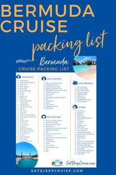 If you are planning a Bermuda cruise vacation, be sure to download our free printable packing list for what to wear and tips on what to bring to make your cruise the best and most comfortable it can be. No matter if it's a quick weekend cruise, a full 7-day cruise, or even an extended adventure, we can help you plan for everything. Take advantage of our experience and download your checklist today! Packing List For Cruise, Cruise Tips, Cruise Port, Cruise Vacation, Resort Casual, Printable Packing List, Clothes Clips, Underwear Organization, Cruise Destinations