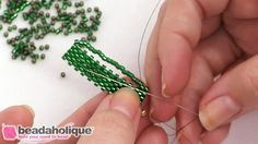 How to do fast Peyote Bead Weaving