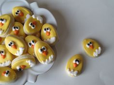 Look how tiny and CUTE!!!    OH SO SMALL Easter chicks sugar cookies  3 dozen by justcrumbs