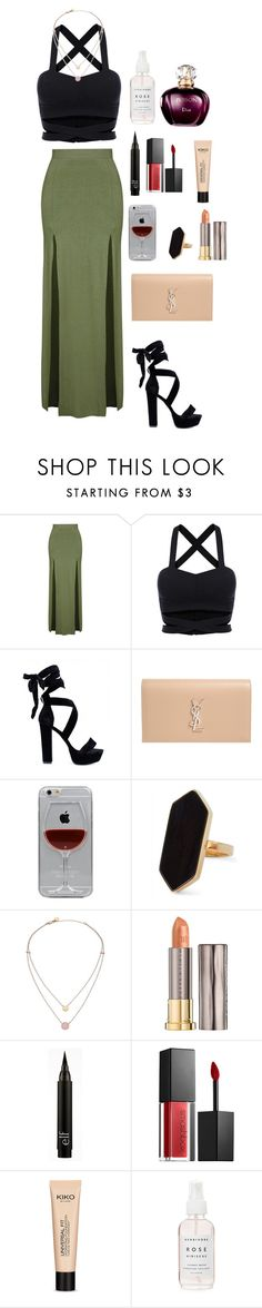 """""""p"""" by triz01 on Polyvore featuring Topshop, Yves Saint Laurent, Reyes, Jaeger, Michael Kors, Urban Decay and Smashbox"""