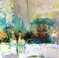 Nature Lifts Me Up-Abstract Landscape by Joan Fullerton Acrylic ~ 36 x 36