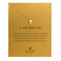 I Am Brave Make A Wish, Gold Dipped | Dogeared