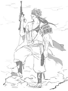Touken Ranbu, Mutsunokami Yoshiyuki, Bullshit, Character Design, Fan Art, Manga, Illustration, Artist, Anime Characters