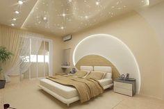 Бежевые стены увеличивают пространство небольшой комнаты