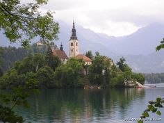 The monastery in Bled, Slovenia. I got to ring the church bell for good luck  any guesses what I wished for? :)