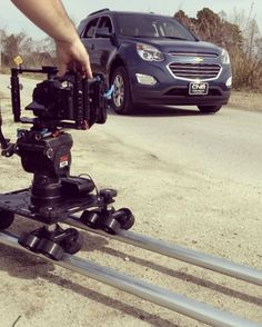 Shooting running footage today! #boomarang #runningfootage #camerarig #onlocation #chevrolet #kesslercrane M3-2