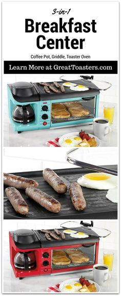 7 reasons to buy the Nostalgia Electrics BSET300RETRORED 3-in-1 breakfast station. This breakfast maker can replace 3 other appliances. This 3 in one breakfast station is perfect for singles and couples. The compact size makes it idea for small countertops, dorm rooms, apartments, campers, RVs and more. https://greattoasters.com/3-in-1-breakfast-station-review-nostalgia-electrics-bset300retrored/