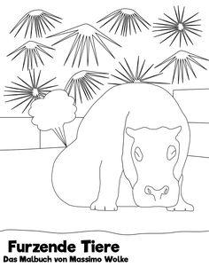 Furzende Tiere - Das Malbuch; Willkommen in der Welt der furzenden Tiere: 20 Tiere warten darauf ausgemalt zu werden, während sie sich ihren Fürzen hingeben. Erfreue dich an den süßen Tieren und amüsiere dich über ihre Fürze. Ein lustiges Malbuch für Jung und Alt zum Entspannen und Spaß haben. Im Buch sind folgende Tiere enthalten: Bär, Elefant, Ente, Erdmännchen, Hase, Hund, Katze, Meerschweinchen, Möwe, Nashorn, Nilpferd, Pferd, Pinguin, Rabe, Schildkröte…