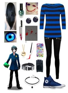 """Creepypasta: Daughter of The Bloody Painter"" by ender1027 ❤ liked on Polyvore featuring Paige Denim, Oui, Converse, CARAT* London, Montblanc, Missoma, Zanellato and Casetify"