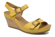Image result for clarks yellow wedge sandals images