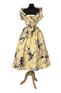 Printed Silk Day-Dress, Cristobal Balenciaga, Mid 1950s