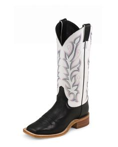 Justin Women's Black Burnished Calf Boot - BRL313