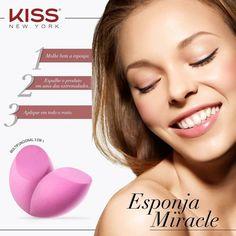 Esponja Miracle - Esponja de maquiagem multifuncional 3 em 1 Perfeito para aplicação de maquiagem Anatômica - Lavável - Sem látex…