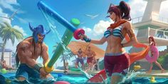 Pool Party Skins, League Of Legends Universe, One Liner Jokes, Riot Games, Safe For Work, Custom Cards, Game Art, Character Inspiration, Card Games