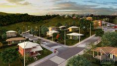 Miriã Campos | Arquitetura • Design • Maquete Eletrônica 3D | Vista geral aérea 2 – loteamento residencial Bello Monte itabirito – Maquete eletronica 3D – Belo Horizonte BH – Miriã Campos MCampos arquitetura
