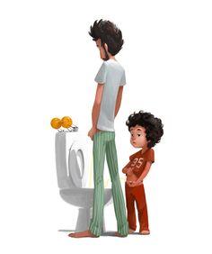 naranjas y zapatos: Paternidad 8 a.m. / Parenthood 8 a.m.