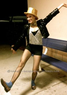 Coolest Homemade Columbia (with a Twist) Costume from Rocky Horror Picture Show...