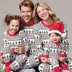 Family Matching Outfits Look Christmas Pajamas Dad Mom Kids Sleepwear Clothes Christmas Family Look Pajamas Family Clothing Sets Matching Christmas Pajamas, Family Christmas Pajamas, Matching Family Pajamas, Matching Family Outfits, Matching Clothes, Holiday Pajamas, Family Pajama Sets, Family Pjs, Family Print
