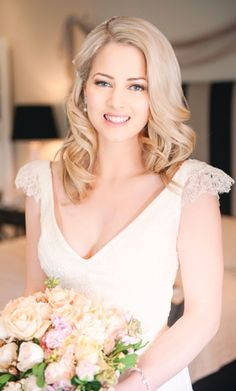 Whether you're a blonde, redhead, brunette or raven-haired, your chosen 'do' will be one of the highlights of your bridal look. Love Birds Wedding, Wedding Hair Inspiration, Bridal Looks, Wedding Styles, Real Weddings, One Shoulder Wedding Dress, Wedding Hairstyles, Wedding Photography, Wedding Dresses