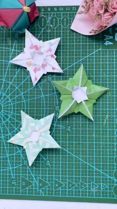 Instruções Origami, Origami And Kirigami, Paper Crafts Origami, Origami Sheets, Dollar Origami, Origami Bookmark, Origami Flowers, Diy Paper, Diy Crafts Hacks