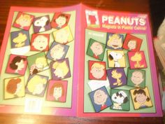 Fridgies Plastic Canvas Patterns Peanuts Magnets by ClassyStitches