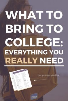 what every college freshman really needs to pack everything that