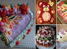 30 Inspiration for the most beautiful savory pies Sandwich Torte, Types Of Cheese, Salty Snacks, Salty Cake, Food Displays, Valentines Day Party, Antipasto, Savoury Cake, 30