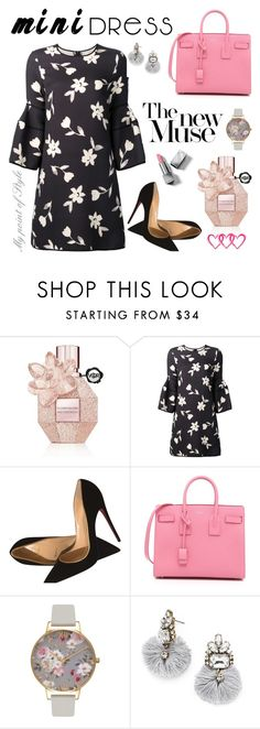 """Mini dress: So lovely!"" by mypointofstyle on Polyvore featuring moda, Viktor & Rolf, Carolina Herrera, Christian Louboutin, Yves Saint Laurent, Olivia Burton, BaubleBar, Burberry y minidress"