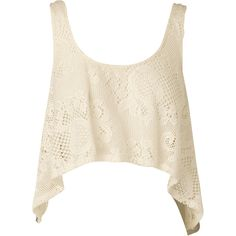NOOKIE Savannah Singlet (460 ZAR) ❤ liked on Polyvore featuring tops, shirts, tank tops, crop tops, sand, crop tank top, pink shirts, pink tank top, crochet top and crochet crop top
