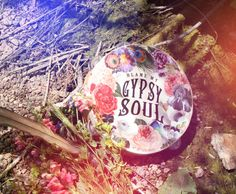 """Gypsy Tambourine. Our original """"Blame My Gypsy Soul"""" design. Gorgeous feathers…"""