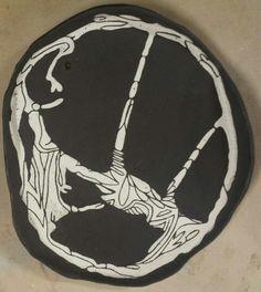 Soft Spokes: black clay with white sgrafito underglaze Black Clay, Chain, Jewelry, Jewlery, Jewerly, Necklaces, Schmuck, Jewels, Jewelery