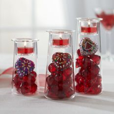 The Symmetry Trio #Tealight Holder Set! You can customize these with your own decorate accents! $30 #PartyLite Click on picture for more ideas! www,partylite.biz/tenatilk