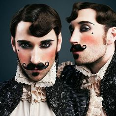 Hi Monday #thebeaubellebrothers by Thomas Loevring pt.4 Hair & makeup by @mybeautyspace Costumes by @deathbirds #mustache #boylesk #boylesque #burlesque #burleylife #burlesquecostumes #beautiful #vintage #vintagehair #cabaret #couture #rupaulsdragrace #twins #twinmodels #thebeardedhomo #instagay #instahomo #dragrace #dragqueens #ditavonteese #flazéda #gay #gayart #gaytwins #gaybrothers #gaystagram #homogram