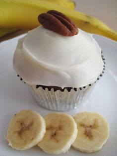 Cupcakes di banana bread con glassa al philadelphia