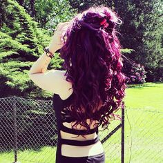 <3 omg i want this plum hair color!!!