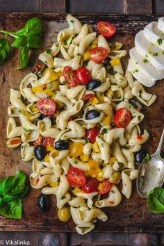 Pasta Salad with Basil Vinaigrette ~ great FRESH vinaigrette recipe!!