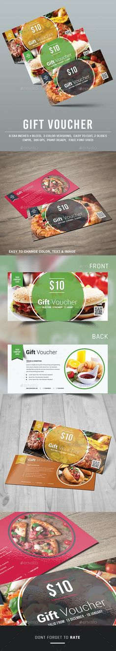 Gift Voucher Template PSD #design Download: http://graphicriver.net/item/gift-voucher-/13337687?ref=ksioks