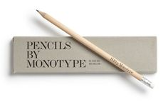 Pencils by Monotype packaging designed by Sea. Minimalist Graphic Design, Advertising Design, Corporate Design, Graphic Design Typography, Label Design, Packaging Design, Branding Design, Stationery Design, Web Inspiration