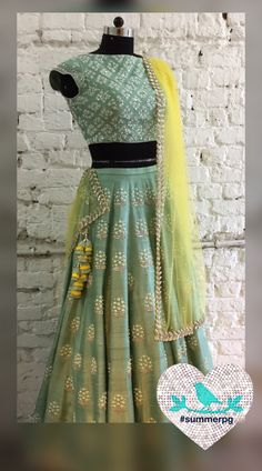 Summer By Priyanka Gupta. Indian Lehenga, Indian Gowns, Indian Attire, Indian Wear, Indian Style, Indian Wedding Outfits, Pakistani Outfits, Indian Outfits, Ethnic Outfits