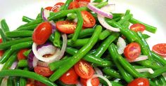 Cold Green Bean Salad Gather For Bread. Green Bean Salad With Basil Balsamic And Parmesan Recipe . Fresh Green Bean Salad Recipe Taste Of Home. Green Bean Salads, Green Beans And Tomatoes, Green Bean Recipes, Cherry Tomatoes, Cucumber Recipes, Healthy Salad Recipes, Vegetable Recipes, Vegetable Salad, Vegetable Dishes