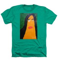 Patrick Francis Kelly Green Designer Heathers T-Shirt featuring the painting Portrait Of Woman With Hair Loose 2015 - After Vincent Van Gogh by Patrick Francis