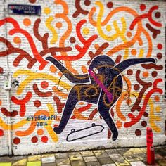 'Kick-flip' #StreetArt by Ottograph ►  #Ottograph | #Instamooiness #Mooiness
