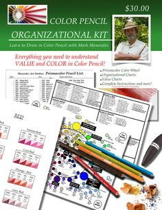Many color pencil beginners are often mystified  and befuddled on how to choose colors or how to organize their pencils. This new informative book includes over 50 pages of instructions, numerous exercises, and projects. I share my easy to use system to identify VALUE and COLOR, and introduce you...
