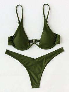 Shein High Leg Underwire Bikini Set