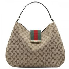ddb879ffee09 Gucci Ladies Web Large Hobo Beige-Multicolor 211933 Sale Gucci Purses