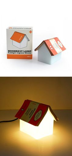Bookrest Lamp transforms into a house when you set down your book.