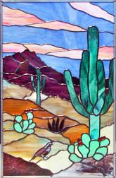 Saguaro Cactus | This panel brings to life the colors and textures of the American Southwest.